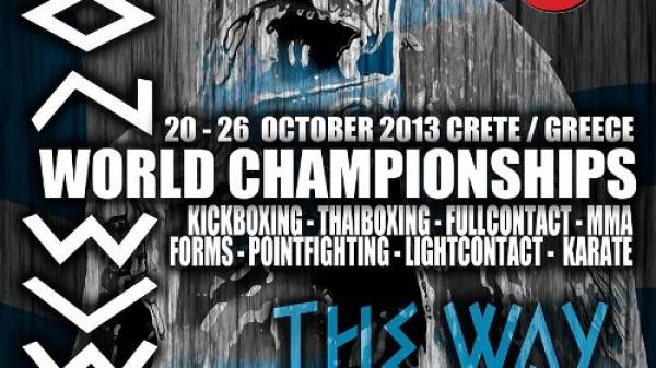 Ανακοίνωση για το παγκόσμιο πρωτάθλημα kick Thai boxing της WKU στην Κρήτη 20-26 Οκτωβρίου 2013