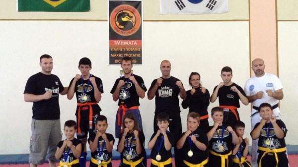 Εξετάσεις ζωνών kickboxing στη Σκόπελο