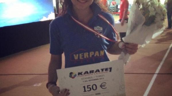 Χάλκινη η Βίκυ Πανετσίδου στο Karate 1 της Κωνσταντινούπολης