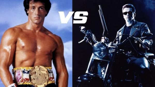 Celebrity Deathmatch: Stalone vs Schwarzenegger! (BINTEO)