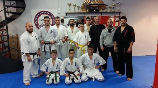 Φιλική προπόνηση Kumite στον Α.Σ. Kyokushinkai Karate Λάρισας