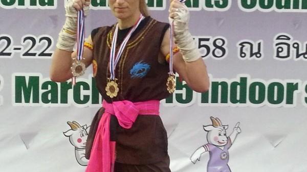 Τρία μετάλλια για την Κωνσταντίνα Πελούμπη στην Ταϊλάνδη