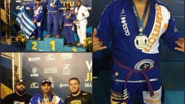 Αργυρό μετάλλιο στο παγκόσμιο BJJ για τον Χρήστο Κελλετζιάν!
