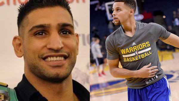 Όταν ο Amir Khan έμαθε μπάσκετ από τον «εξωγήινο» Steph Curry