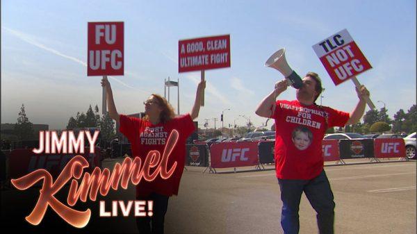 Ο Jimmy Kimmel ζητάει από την κυρία Dana White να απαγορεύσει μπουνιές, κλωτσίες στο UFC!