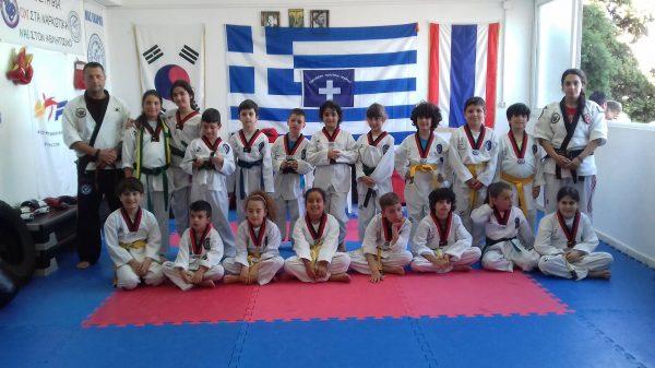 Eξετάσεις Ταεκβοντο και Combat Hapkido στην Ικαρία