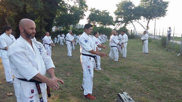 To summer camp του Shin Kyokushin Kai στο Πήλιο