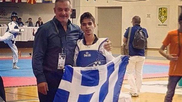«Ασημένιος» ο Ταεκβοντίστας Επαμεινώνδας Τριανταφύλλου στο Ευρωπαϊκό πρωτάθλημα Εφήβων