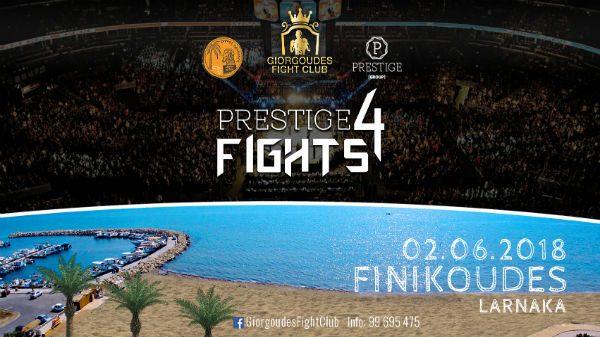 2 Ιουνίου το Prestige Fights 4 στην Κύπρο