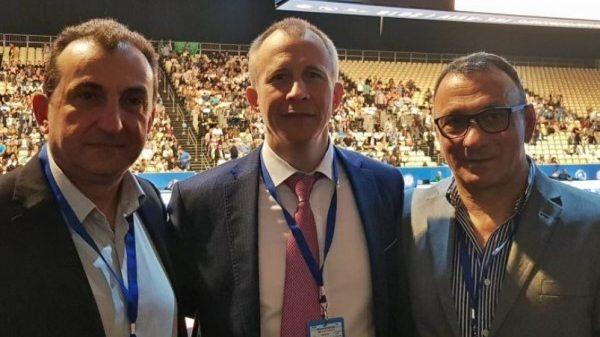 Με τον πρόεδρο της EJU, Σεργκέι Σολοβέιτσικ, συναντήθηκαν Καφενταράκης και Ηλιάδης
