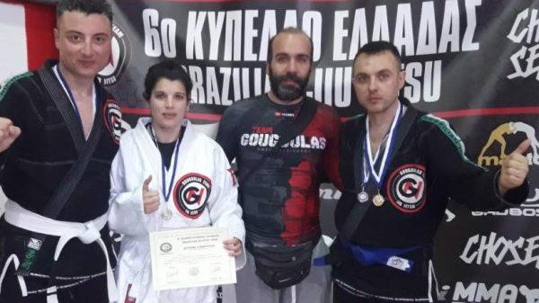 Μετάλλια στο διεθνές κύπελλο Jiu Jitsu το Kinesis Fight Club