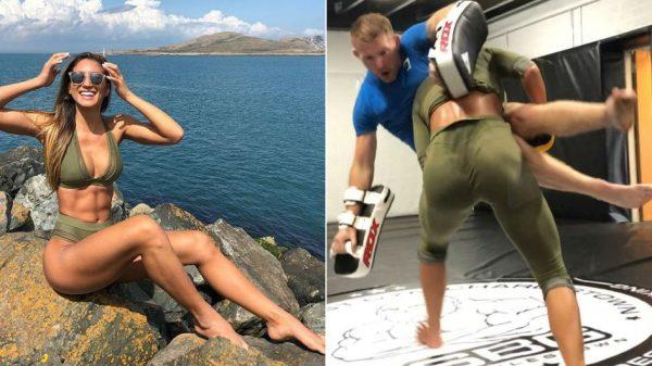 Η σέξι Karina Elle αναστάτωσε το γυμναστήριο του McGregor