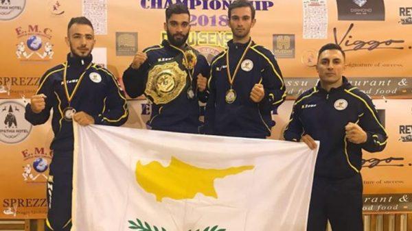 Μετάλλια για την Εθνική ομάδα της Κύπρου στο Πανευρωπαϊκό πρωτάθλημα Muay Thai