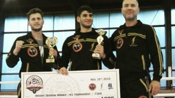 Το έπαθλο του International Fight Club Open στους Φασομυτάκη και Γκίκα