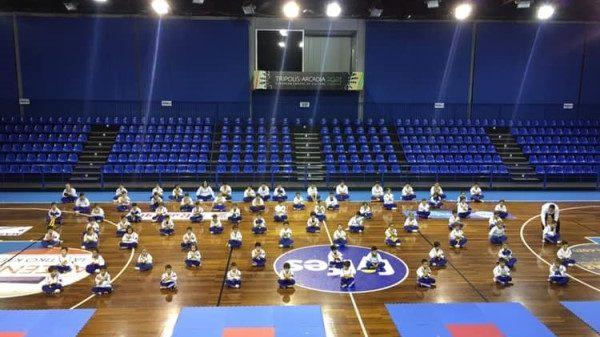 Προαγωγικές εξετάσεις για το παιδικό τμήμα της Combat team Tripolis στο Παγκράτιο άθλημα