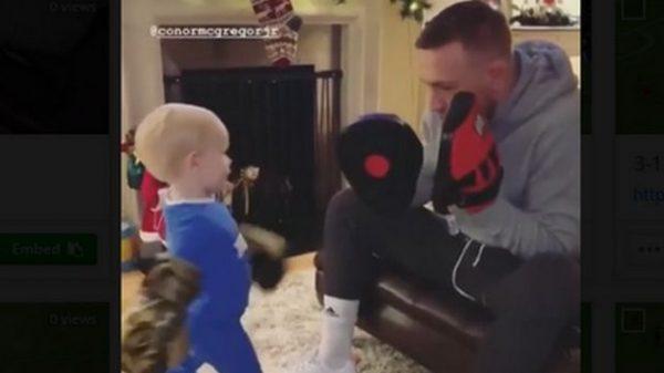Το video με τον ενός έτους γιο του Conor McGregor να ρίχνει κορυφαίες μπουνιές