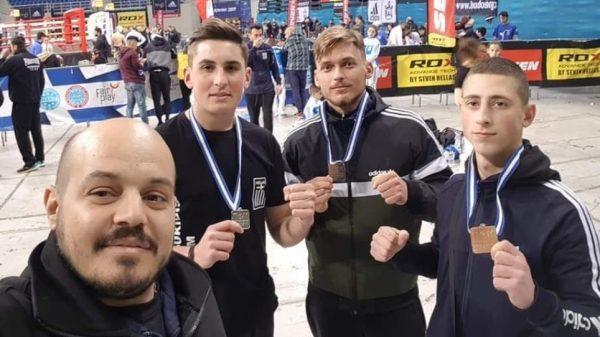 Δύο αργυρά μετάλλια και ένα χάλκινο για τον Άθλο Κιλκίς στο Πανελλήνιο Κύπελλο kickboxing