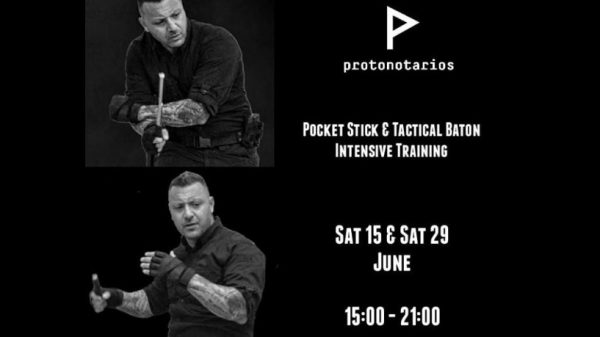 Στις 15 και 29 Ιουνίου σεμινάριο Pocket Stick and Tactical Baton από τον Πρωτονοτάριο